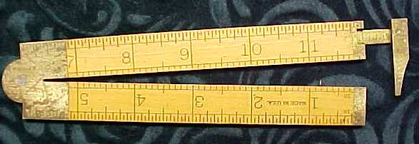 Stanley No. 36 1/2R Boxwood Caliper Rule