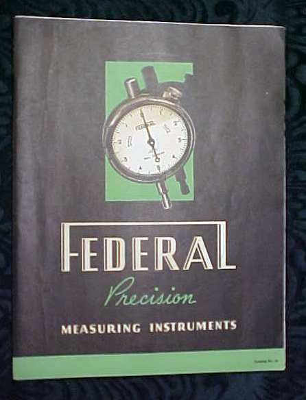 Federal Measuring Instruments Catalog 1937