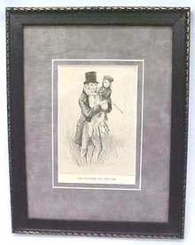 Dickens Tiny Tim & Bob Cratchit 1911 Framed