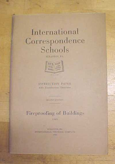 Fireproofing of Buildings Booklet ICS 1920