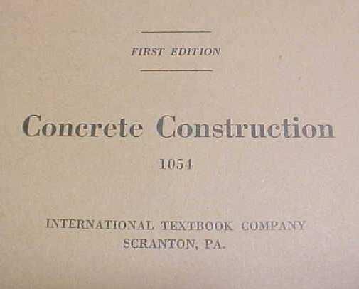 Concrete Construction Booklet ICS 1920