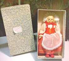 Ethnic Doll Switzerland Felt Face + Orig Box