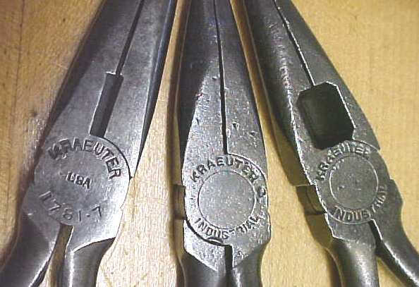 Kreauter Long Nose Pliers Group of 3