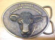 Siskiyou Bronze Cow Belt Buckle