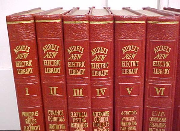 Audels Electric Library 1942 Red Leather 11 Volumes