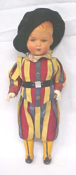 Celluloid Doll Palace Guard Colorful Uniform