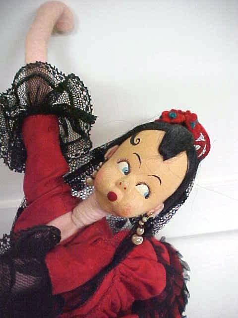 Klumpe Roldan Doll Spanish Dancer Lady in Red