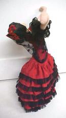 Klumpe Roldan Doll Spanish Dancer Lady in Red