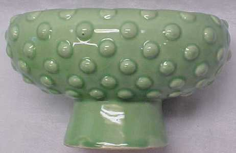 Planter Mint Green Pottery Bowl Raised Bubble Design