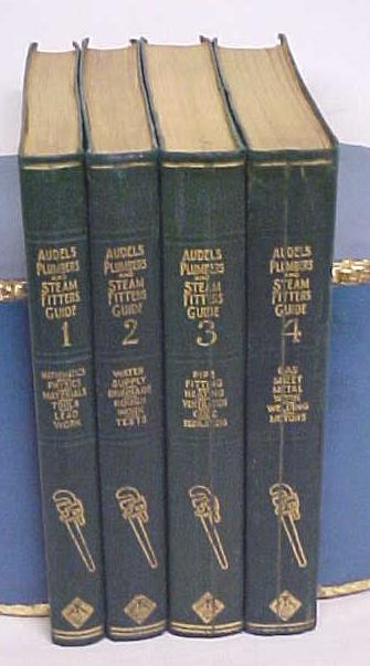 Audels Plumbers & Steam Fitters Guide Set 1925 1st Ed.