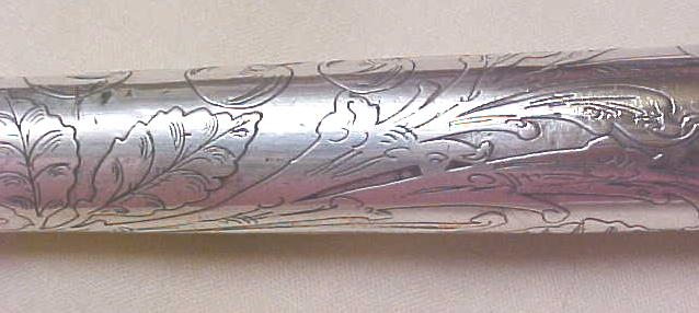 Umbrella Rolled Silver Antique Ornate Handle