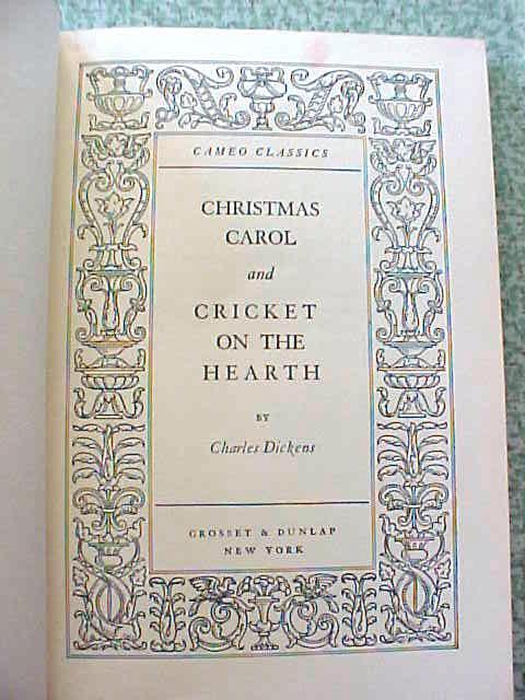 Dickens A Christmas Carol + Cricket on Hearth