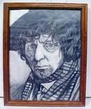 Doctor Who Tom Baker Original Drawing