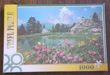Puzzle Mountains Flowers Lake Germany Trefl