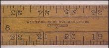 Western Reserve Woolen Fabric Rule Beveled Antique