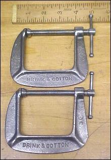 B & C 2.5 inch C-Clamp Pair No. 142-1/2 Brink & Cotton