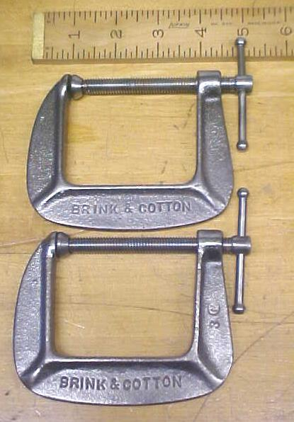 B & C 2.5 inch C-Clamp Pair No. 142-1/2 Brink & Cotton
