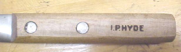 I.P. HYDE Wood Handled Knife