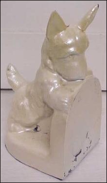Scotty Dog Bookend Cast Metal