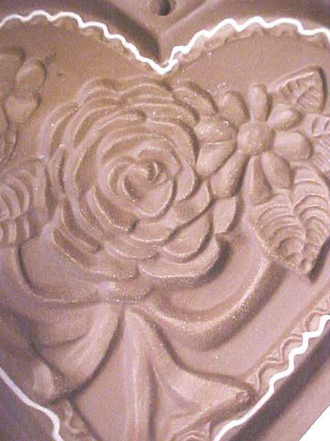 Hartstone Cookie Mold Folk Art Heart Roses