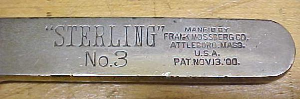 Frank Mossberg No.3 Sterling  Adjustable Wrench
