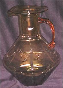 Blenko Pitcher Amber 15 inch Tall Large Hand Blown