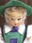 Dutch Boy Dolls Ethnic Wood Shoes Miniature 2 PC