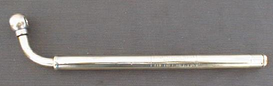 Dill Mfg. Co. Solid Brass Tire Pressure Gauge Tester Rare