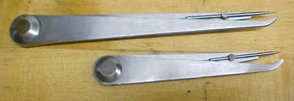 Union Tool Co.  Hermaphrodite Caliper 4 & 6 inch No. 19