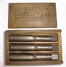 S. W. CARD Taps Boxed Tap Set 7/8