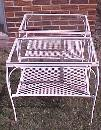 End Tables Wrought Iron Pair Glass Top