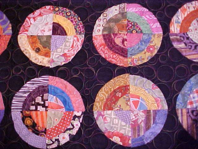 Quilt Wall Hanging Spinning Circles