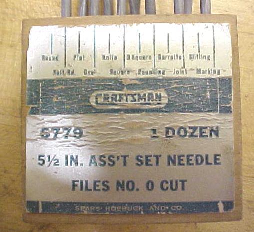 Vintage Craftsman Needle File Set w/Box