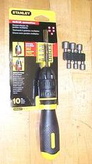 Stanley Ratchet Screwdriver/Nut Driver w/16 Bits Ergonomic Handle