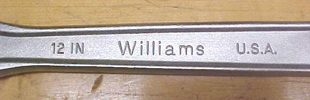 J.H. Williams Adjustable Wrench 12