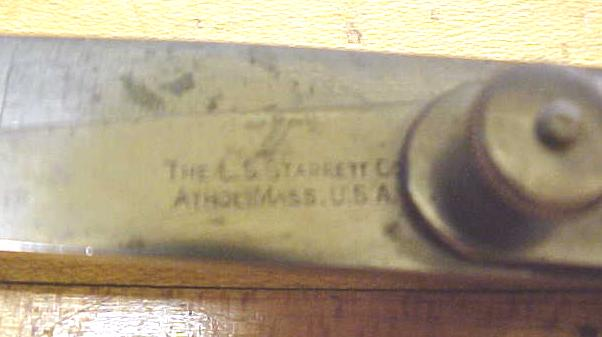 Starrett No. 37 4 Inch Inside Lock Joint Transfer Calipers