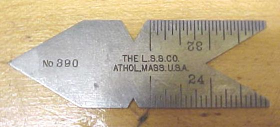 Starrett Steel Center Gage No. 390