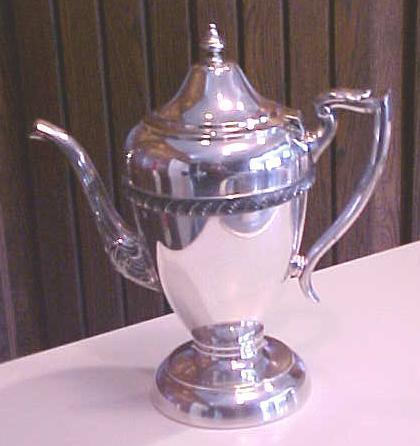 Hartford Teapot Silverplate 1920's Silver Plate