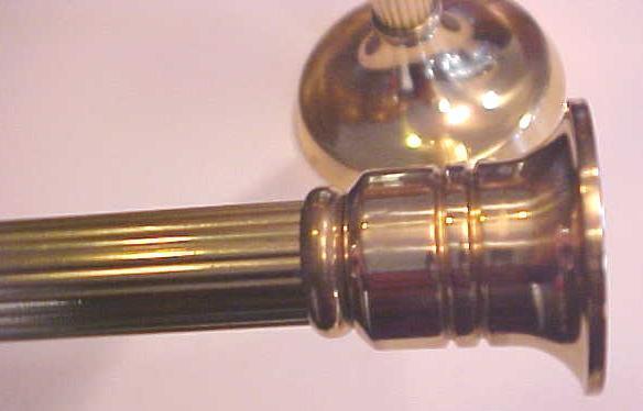 Brass Candle Stick Holders Pair Roman Pillar