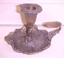 Ornate Chamberstick Candle Holder ROYAL SHEFFIELD