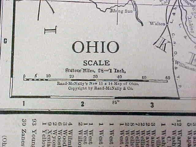 Map Ohio Cincinnati Streets 1917 Rand McNally