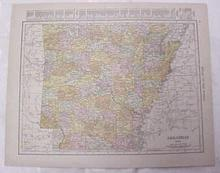 Map Arkansas Kansas City Mo Kansas 1917 Rand McNally