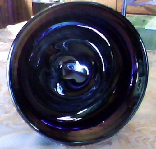 Fenton Favrene Compote Signed 1976 Art Glass