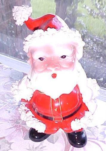 Spaghetti Santa Bobble Head Planter Vintage