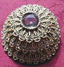 Brooch Pin Rhinestone Raised Dome