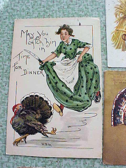 Postcard Lot Thanksgiving Clapsaddle Griggs Winsch Tuck
