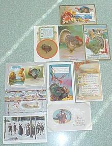 Postcard Lot Thanksgiving Winsch Reichner Nash