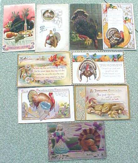 Postcard Lot Thanksgiving Winsch Reichner Nash