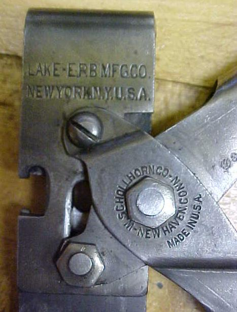 Lake-Erb B&E-Wire Tipper No. 1 Schollhorn Pliers Crimpers