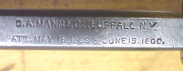C. A. Mann Patented Screw Head Holding Screwdriver